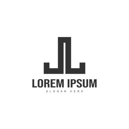 Initial letter logo template. Minimalist letter logo template design Illustration
