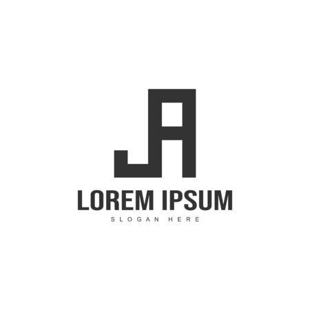 Initial letter logo template. Minimalist letter logo template design Ilustração