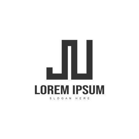 Initial letter logo template. Minimalist letter logo template design 向量圖像
