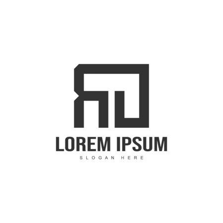 Initial letter logo template. Minimalist letter logo template design Иллюстрация