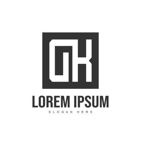 Initial letter logo design. Minimalist letter logo template design