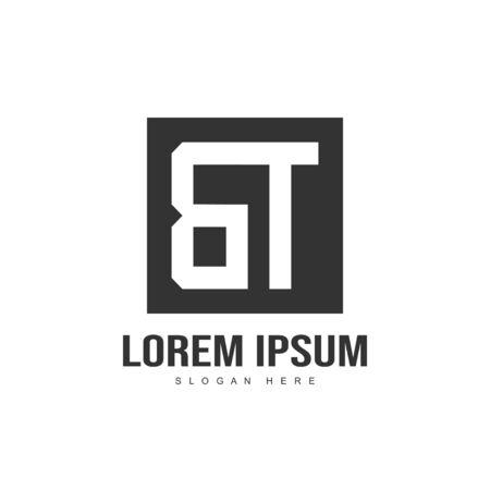 Initial letter logo design. minimalist letter logo template design Çizim