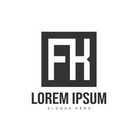 Initial letter logo template. Minimalist letter logo template design Stock Illustratie