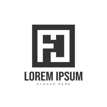 Initial letter logo template. Minimalist letter logo template design