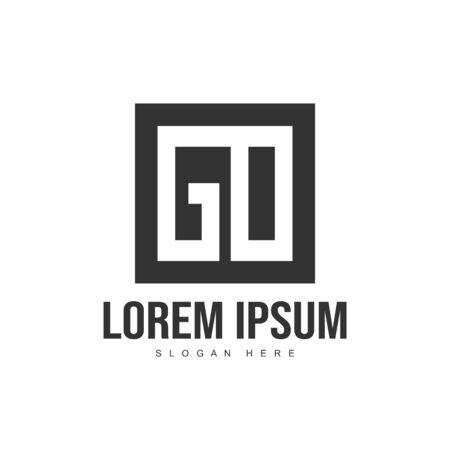 Initial letter logo template. Minimalist letter logo template design Çizim