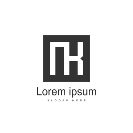 Initial Letter NK Logo Template Vector Design