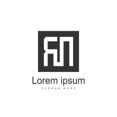 Initial Letter RN Logo Template Vector Design Logo