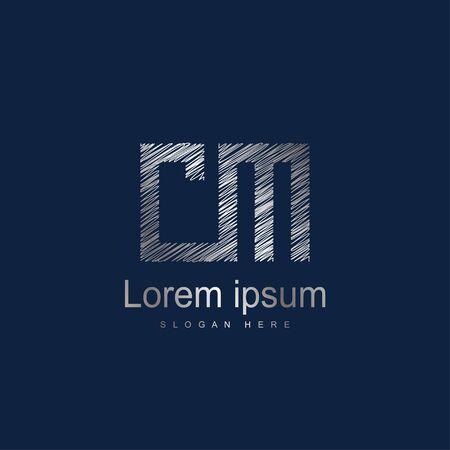 Initial Letter CM logo Template Vector Design