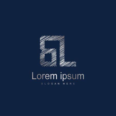 Initial Letter BL Logo Template Vector Design