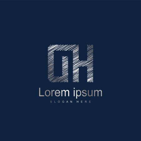 Initial Letter DH Logo Template Vector Design