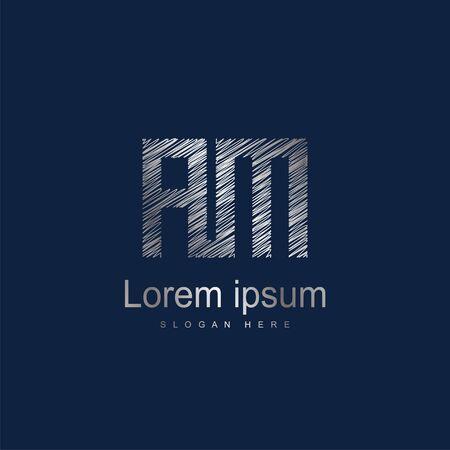 Initial Letter AM Logo Template Vector Design Logó