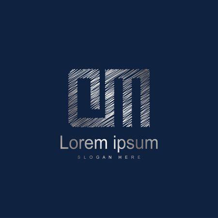 Initial Letter DM Logo Template Vector Design