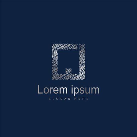 Initial Letter CJ logo Template Vector Design Иллюстрация