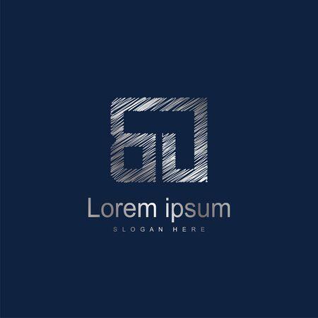 Initial Letter BO Logo Template Vector Design Çizim