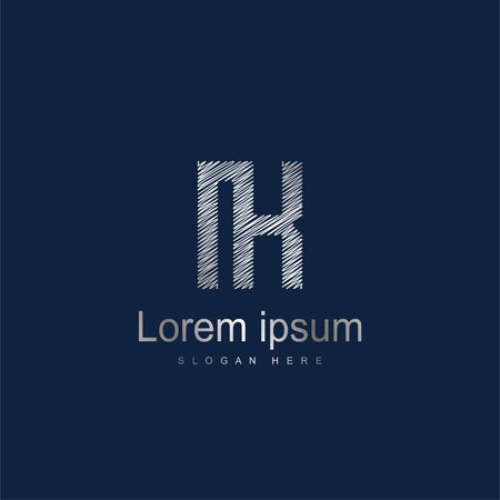 Initial Letter IK Logo Template Vector Design. Abstract letter logo design Logó