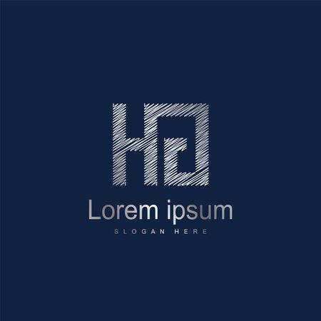 Initial Letter HG Logo Template Vector Design