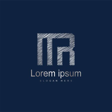 Initial Letter MR Logo Template Vector Design