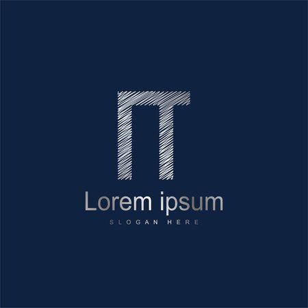 Initial Letter NT Logo Template Vector Design Illusztráció