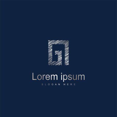 Initial Letter GI Logo Template Vector Design