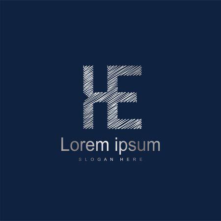 Initial Letter KE Logo Template Vector Design. Abstract letter logo design