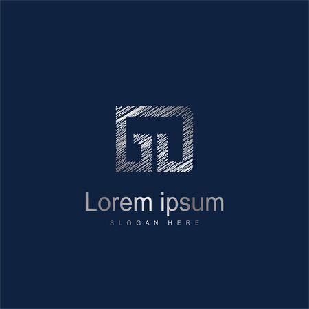 Initial Letter GD Logo Template Vector Design