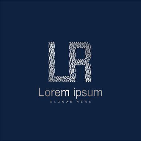 Initial Letter LR Logo Template Vector Design. Abstract letter logo design