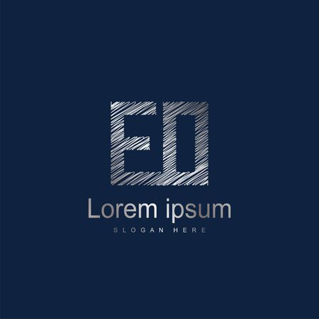 Initial Letter EO Logo Template Vector Design
