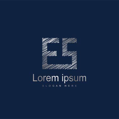 Initial Letter ES Logo Template Vector Design