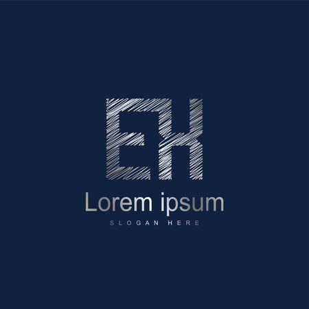 Initial Letter EX Logo Template Vector Design Logo