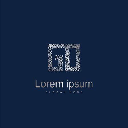 Initial Letter GO Logo Template Vector Design