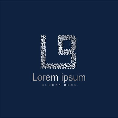 Initial Letter LB Logo Template Vector Design. Abstract letter logo design