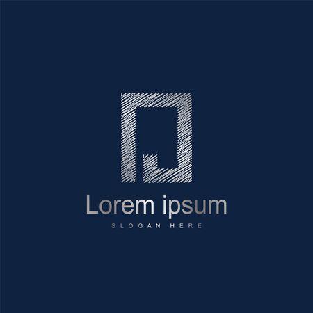 Initial Letter NJ Logo Template Vector Design
