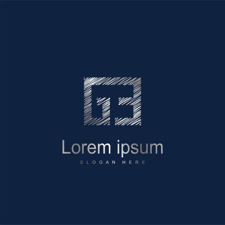 Initial Letter GE Logo Template Vector Design Ilustração