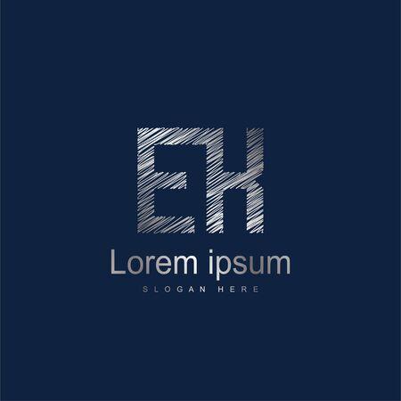 Initial Letter EK Logo Template Vector Design