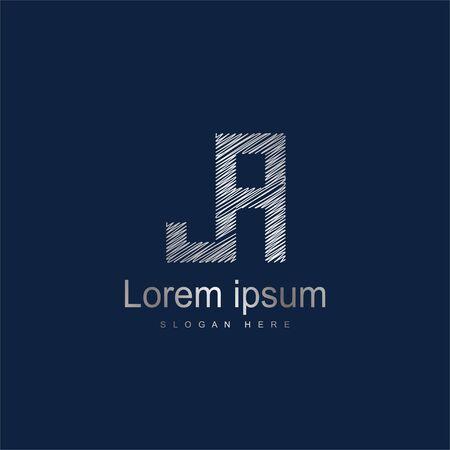 Initial Letter JA Logo Template Vector Design. Abstract letter logo design Ilustração