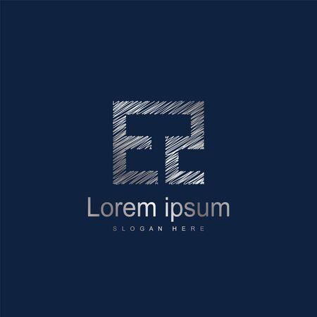 Initial Letter EZ Logo Template Vector Design
