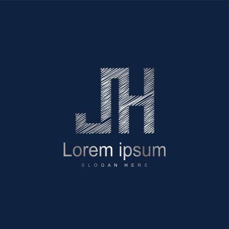 Initial Letter JH Logo Template Vector Design. Abstract letter logo design