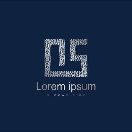 Initial Letter OS Logo Template Vector Design. Silver letter logo Logó