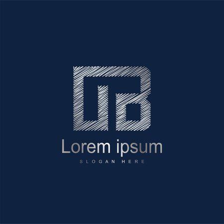 Initial Letter OB Logo Template Vector Design. Silver letter logo
