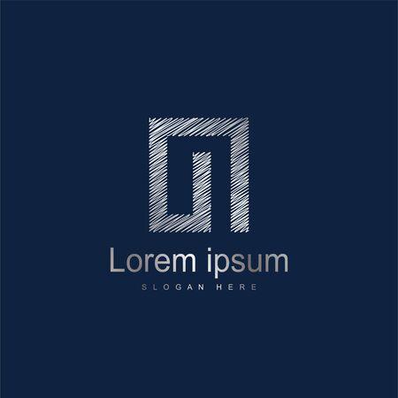 Initial Letter OI Logo Template Vector Design. Silver letter logo