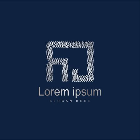 Initial Letter RC Logo Template Vector Design. Silver letter logo Logó