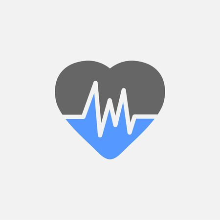 Cardiogram flat icon vector isolated on white background