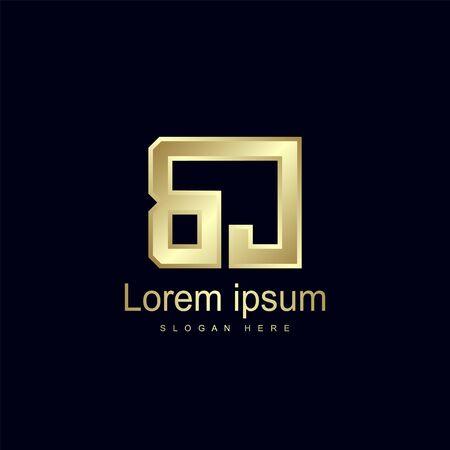 Initial Letter BJ Logo Template Vector Design Çizim