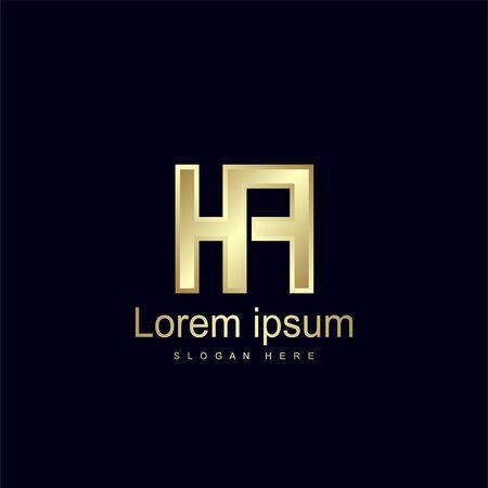 Initial Letter HF Logo Template Vector Design