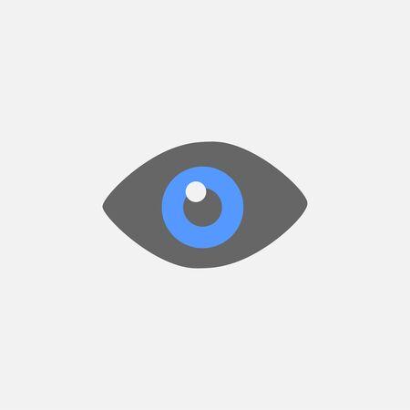 Eye flat icon vector isolated on white background