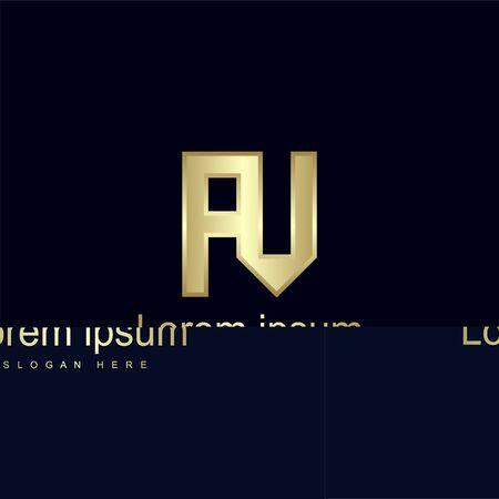 Initial Letter AV Logo Template Vector Design
