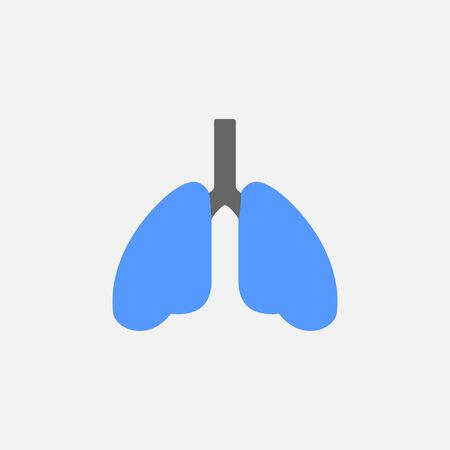 Lungs flat icon vector isolated on white background Ilustracja