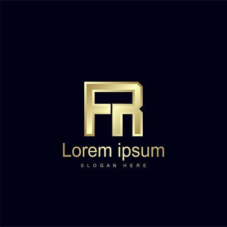Initial Letter FR Logo Template Vector Design Logo