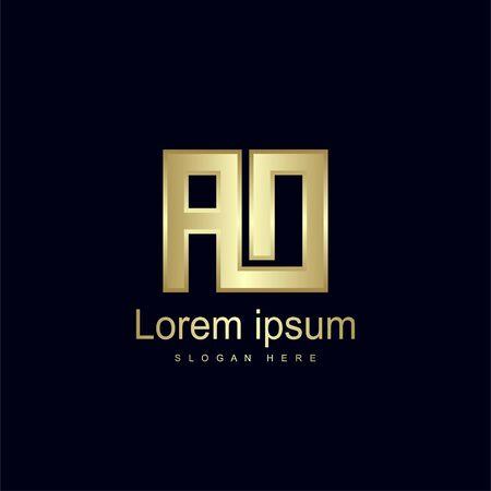 Initial Letter AO Logo Template Vector Design Ilustração