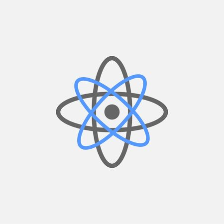 Atomic flat icon vector isolated on white background
